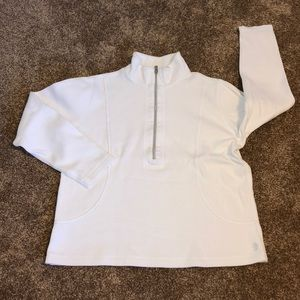 Tommy Bahama half zip pullover. Men's large. White